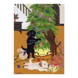 """Árbol de navidad del labrador retriever invitación 5"""" x 7"""""""