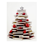 Árbol de navidad del libro postal