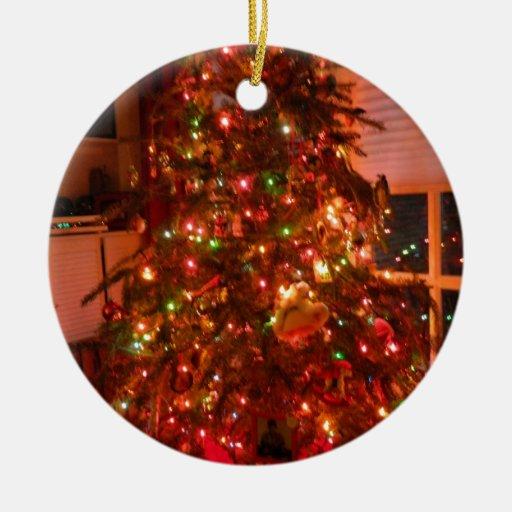 Árbol de navidad del Lit Adorno Navideño Redondo De Cerámica