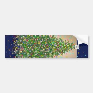 Árbol de navidad del Lit Etiqueta De Parachoque