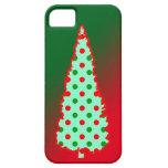 Árbol de navidad del lunar iPhone 5 Case-Mate carcasa