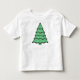 Árbol de navidad del lunar playera de bebé