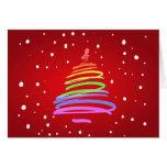 Árbol de navidad del orgullo gay tarjetón