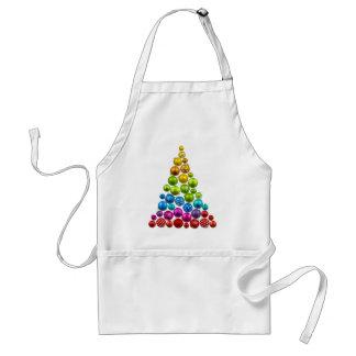 Árbol de navidad del ornamento del arco iris delantales