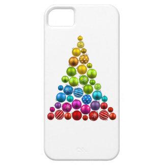Árbol de navidad del ornamento del arco iris iPhone 5 Case-Mate fundas