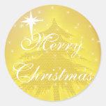 Árbol de navidad del oro del pegatina del oro con