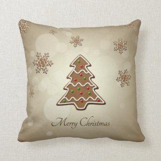 Árbol de navidad del pan de jengibre - almohada