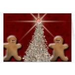 Árbol de navidad del pan de jengibre tarjetas