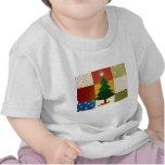 Árbol de navidad del remiendo camiseta