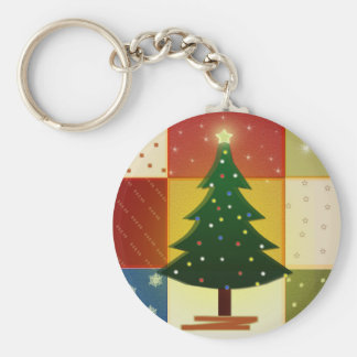 Árbol de navidad del remiendo llaveros personalizados