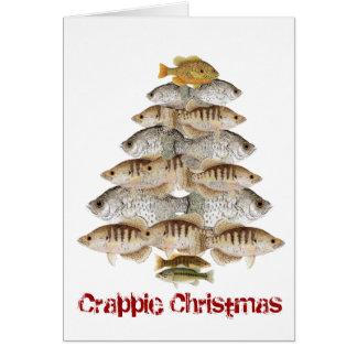 Árbol de navidad del tipo de pez tarjeta