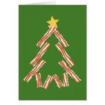 Árbol de navidad del tocino felicitación