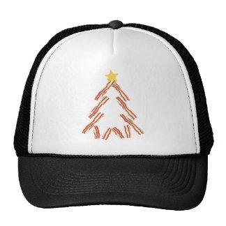 Árbol de navidad del tocino gorras de camionero