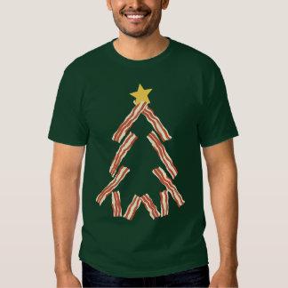 Árbol de navidad del tocino playeras
