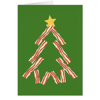 Árbol de navidad del tocino tarjeta de felicitación