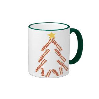 Árbol de navidad del tocino taza