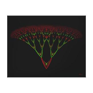Árbol de navidad del toldo de la mariposa impresiones de lienzo