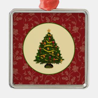 Árbol de navidad del vintage adorno