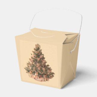 Árbol de navidad del vintage caja para regalos