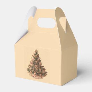 Árbol de navidad del vintage caja para regalos de fiestas