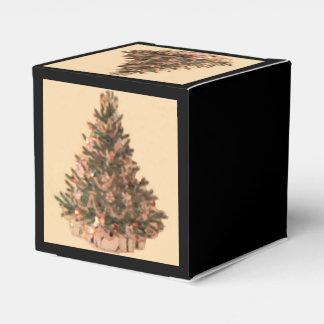 Árbol de navidad del vintage cajas para detalles de boda