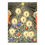 Árbol de navidad del vintage con las velas anuncio