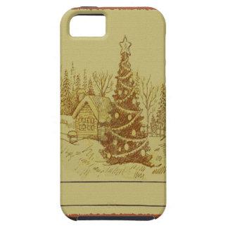 Árbol de navidad del vintage funda para iPhone SE/5/5s