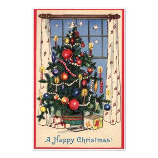 Árbol de navidad del vintage papelería personalizada
