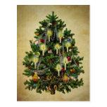 árbol de navidad del vintage postal