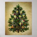 árbol de navidad del vintage posters