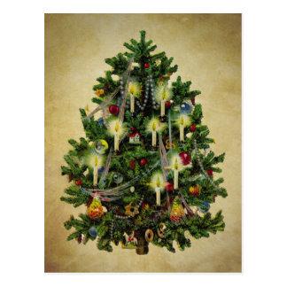 árbol de navidad del vintage tarjetas postales