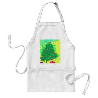 Árbol de navidad delantales