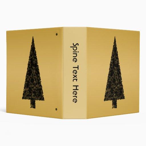Árbol de navidad elegante. Negro y oro