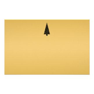 Árbol de navidad elegante. Negro y oro Papeleria