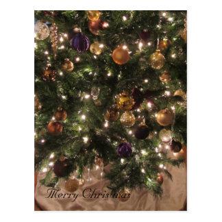 Árbol de navidad elegante postales