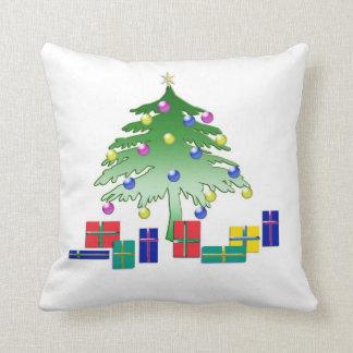 Árbol de navidad en almohada del arte de Digitaces