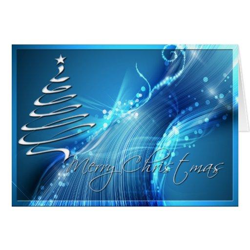Árbol de navidad en BlueWave Tarjeta De Felicitación