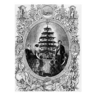 Árbol de navidad en el castillo de Windsor, 1848 Postales