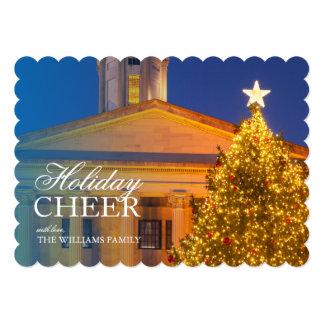 """Árbol de navidad en el edificio del capitolio de invitación 5"""" x 7"""""""