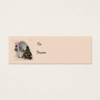 Árbol de navidad en etiquetas del regalo de la