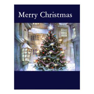 """Árbol de navidad en la calle folleto 8.5"""" x 11"""""""