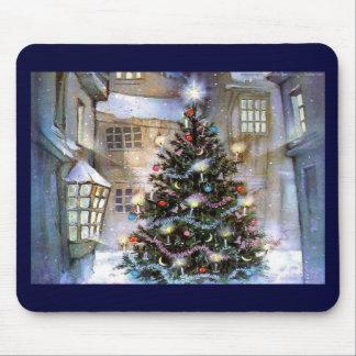 Árbol de navidad en la calle alfombrilla de ratones