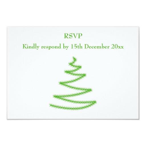 Árbol de navidad en verde, simple y elegante comunicado