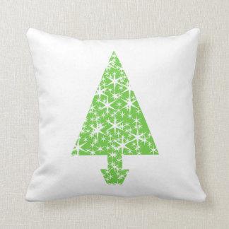 Árbol de navidad en verde y blanco almohadas