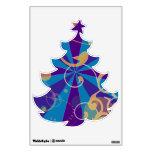 Árbol de navidad enrrollado abstracto retro del re