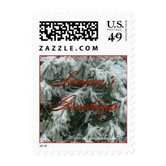 Árbol de navidad escarchado tamaño pequeño para sello