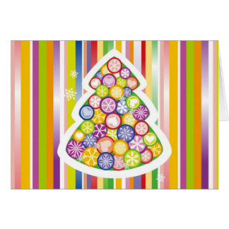 Árbol de navidad escarchado tarjeta de felicitación