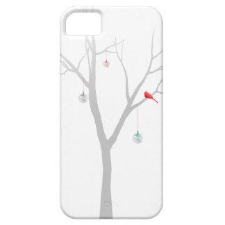 Árbol de navidad escaso iPhone 5 funda