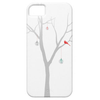 Árbol de navidad escaso iPhone 5 carcasas