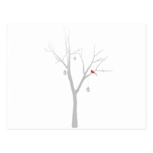 Árbol de navidad escaso postal